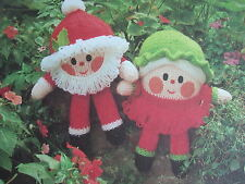 JEAN GREENHOWE TOY / DOLL KNITTING PATTERN SANTA & MRS CLAUS