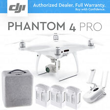 "DJI PHANTOM 4 PRO DRONE w/ Gimbal Camera 4K 20MP 1"" CMOS w/ 2 EXTRA BATTERIES"
