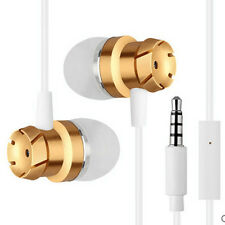 Original 3.5mm Stereo Heavy Bass In-Ear Earphone W/ HD Mic For Laptop MP3 PC Lot