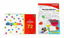 COLLEEN Colored Pencils 72 Colors W/ Neon Colors + Adult & Child Colouring Book
