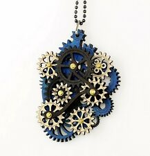 Green Tree Jewelry Kinetic Main Gear Wood Pendant Necklace with Chain 6001D