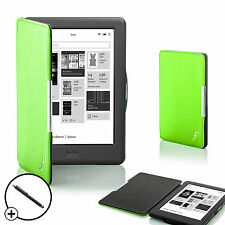 Cuir vert smart shell case cover pour Kobo Glo HD ereader + stylet