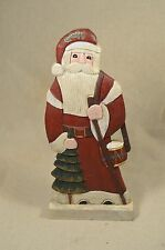 Hand Carved wood painted Father Christmas Santa
