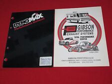 PERFORMANCE  EXHAUST SYSTEMS ~ GIBSON & DYNOMAX ~ CATALOG