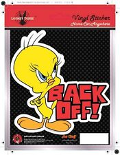 Tweety Back-off! Car Sticker - Looney Tunes- Fun - Auto Decal