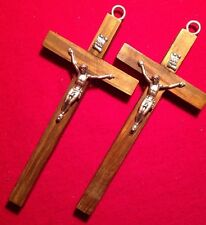 2 Wooden Wall  Cross From Italy   4.6x2.2 Inch