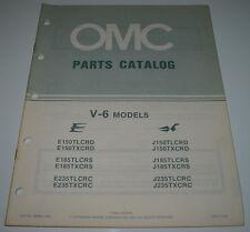 Ersatzteilkatalog Parts Catalog OMC V-6 Models V6 Boot Engine Bootsmotor 1984!