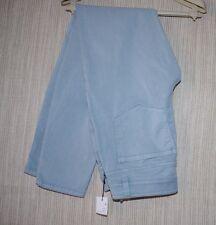 ECRU YOUNG COTTON TENCEL LYCRA MONTAUK BLUE PANTS WOMEN SIZE:4