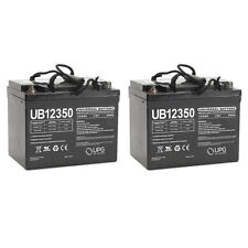 UPG UB12350 12V 35AH Internal Thread Battery for Jazzy GT Power Chair - 2 Pack