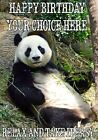 Panda All Occasions A5 Personalised Greeting Card Birthday PIDFF2 With GIFTS