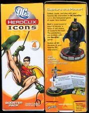 DC HEROCLIX ICONS BOOSTER PACK X2 FACTORY SEALED - 4 FIGURES PER PACK FREE SHIP!
