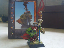 CONFRONTATION-ORCS-AVANGOROK THE ELUSIVE-ORC TRACKER CHAMPION-PAINTED-RACKHAM