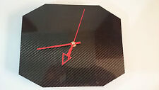 Carbon Fiber Wall Clock - 24 Hour Display - Analogue - Brand New