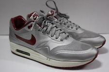 Nike Air Max 1 Shoes HYP QS #633087-006  Night Track Silver Red Hyperfuse SZ 11