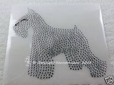 Hotfix Rhinestone Iron-on Picture Dog Schnauzer Crystal 130826 Dog Breeding