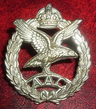 CAP BADGES-ORIGINAL SCARCE WW2 ISSUE ARMY AIR CORPS RARE 1st ISSUE NICKLE PLATED