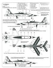 Warbird T-38A Talon, USAF Thunderbird Decals 1/48 009 Fitted for Fujimi, Testors