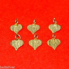 6 pcs 14kt GOLD FILLED 8x8mm very Small HEART Charm Pendants Lot Jewelry Making