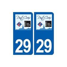 29 Pont-Croix logo autocollant plaque stickers ville arrondis