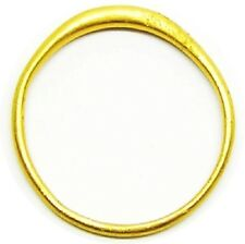 Simple Medieval Gold Stirrup Shaped Ring c. 12th - 13th century A.D. Size 7 1/2