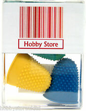 Rubber Thimbles Finger Cones Rubber Thimblettes Thimble Assorted Sizes x 4 New