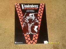 VANDENBERG sheet music Burning Heart '83 6 pp. (NM shape)