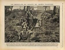 Italia Army Generale Capello Bainsizza / Bataille de la Meuse Zouaves 1917 WWI