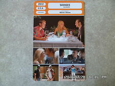 CARTE FICHE CINEMA 2012 SAVAGES Taylor Kitsch Blake Lively John Travolta