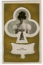 c 1905 British Glamour Theater QUEEN OF CLUBS Billie Burke photo postcard