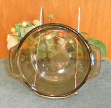Brown Glass Casserole Bowl with handles, 12 oz.