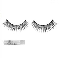 E.L.F Cosmetics Natural Lash Kit Black 1Pair Lashes&Glue Pestañas Postiz elf E70