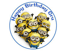 Despicable Me round edible cake topper cake image frosting sheet