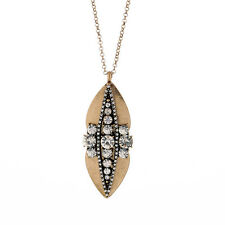 N2219 Fashion Jewelry Long Necklace Brand New Crystal Peapod Necklaces Pendants