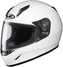 HJC CL-Y YOUTH FULL-FACE MOTORCYCLE HELMET SOLID WHITE SMALL YOUTH 0819-0109-54