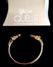 NOS VTG BRASS PL. BRACELET HORSE AFFERT PAR QUELLE  WITH BOX!
