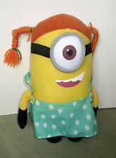 "Girl Minion from Despicable Me 2 - Soft / Plush Toy 11"" tall Stuart Minion"