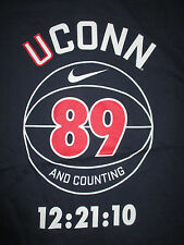 Just Do It UCONN Huskies Women's Basketball 89 AND COUNTING 12:21:10 (LG) Shirt