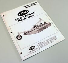 LONG 498 499 1772 1784 ROTARY BRUSH CUTTER OWNER OPERATORS PARTS MANUAL LIST