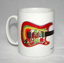 Guitar Mug. George Harrison's Fender Stratocaster Rocky guitar illustration.