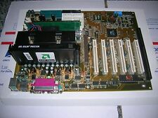 ABIT KA7-100 AMD ATHLON MOTHERBOARD ISA Slot CPU RAM New Capacitors & Battery