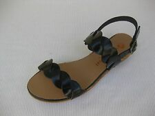 Eric Michael Womens Shoes NEW $115 Noel Black Leather Sandal 40 9