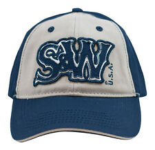 SMITH & WESSON *BLUE & GRAY* Logo TWILL HAT CAP *NEW* SW32