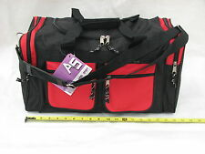 "19"" 40LB. CAP BLACK AND RED  DUFFLE BAG/ GYM / LUGGAGE /SUITCASE / CARRY ON ARRD"