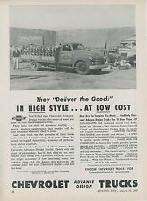 1948 Chevrolet Commercial Trucks Ad Freshpuro Water Co. Delivery Chevy