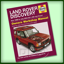 LAND ROVER DISCOVERY 2 Diesel - Haynes Workshop Manual 1998 to 2004 (DA4493)