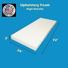 "High Density FoamTouch Upholstery Foam Cushion 3"" X 24"" X 72"" -free shipping"