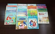 Disney Little Golden Books Lot of 22 Bambi Cinderella Beauty and Beast Mermaid