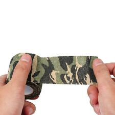 NEW 5CM X 4.5 METRE WOODLAND CAMO WRAP RIFLE/GUN HUNTING CAMOUFLAGE STEALTH TAPE
