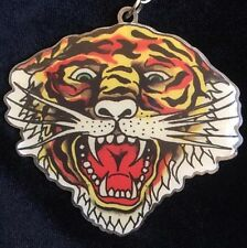Vintage Don Ed Hardy Designs Roaring Tiger Keychain Zoo