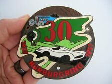 NURBURGRING CAR BADGE PORSCHE 356 911 550 MERCEDES 190 300 SL NÜRBURGRING 1957